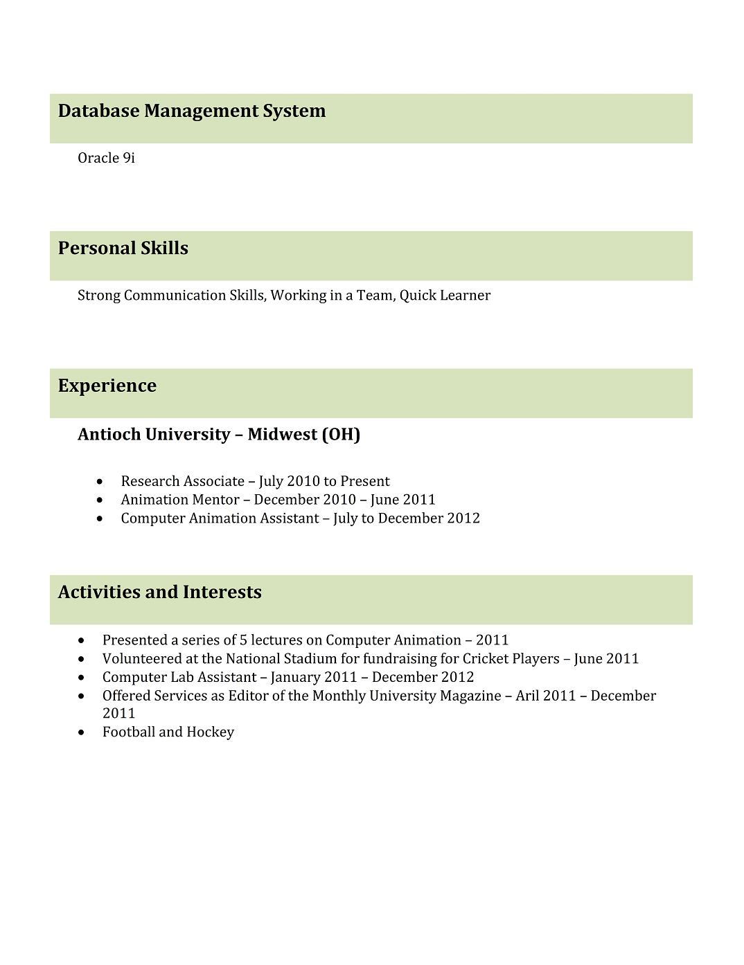 freshers it resume format sample cricket player professional resume2 campaign manager Resume Cricket Player Resume Format
