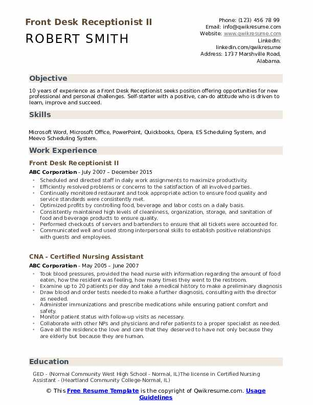 front desk receptionist resume samples qwikresume job pdf abap programmer intelligence Resume Front Desk Job Resume