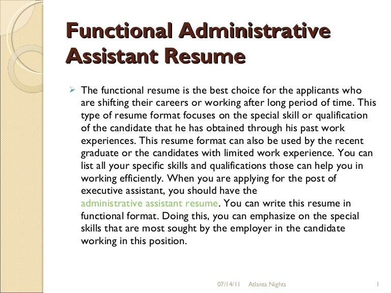 functional administrative assistant resume functionaladministrativeassistantresume9 Resume Administrative Assistant Functional Resume