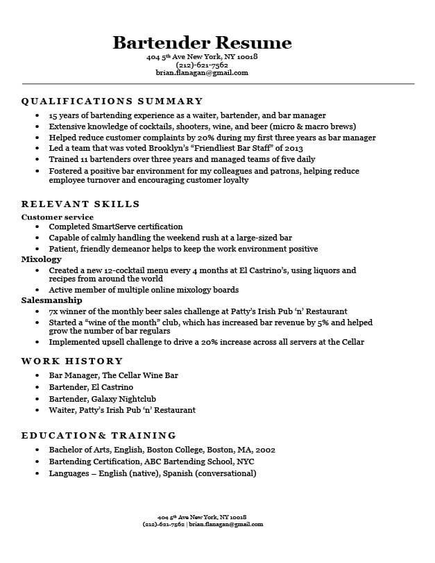 functional resume format examples templates writing guide bartender sample stockroom for Resume Functional Resume Examples 2020