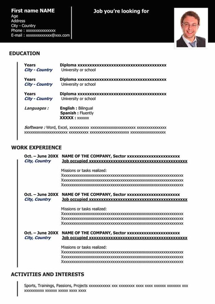 functional resume in word for free samples sample template organized black instructional Resume Sample Functional Resume Template