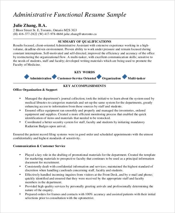 functional resume templates pdf free premium sample template administrative axiom Resume Sample Functional Resume Template