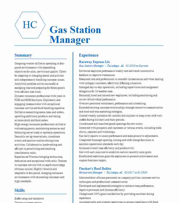 gas station manager resume example danny lachmandas springfield service nursing clinical Resume Service Station Manager Resume