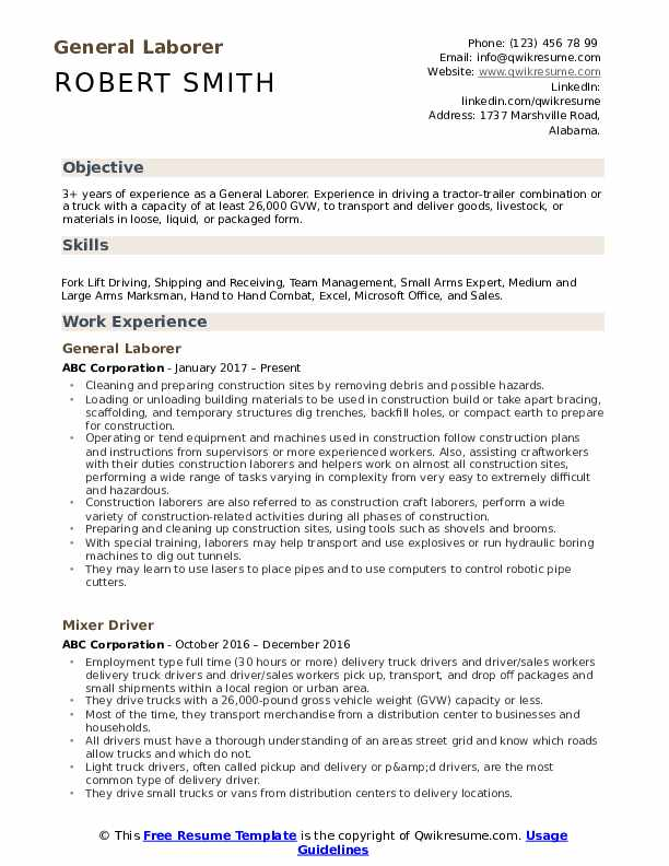 general laborer resume samples qwikresume labor examples pdf mba or on automotive Resume General Labor Resume Examples