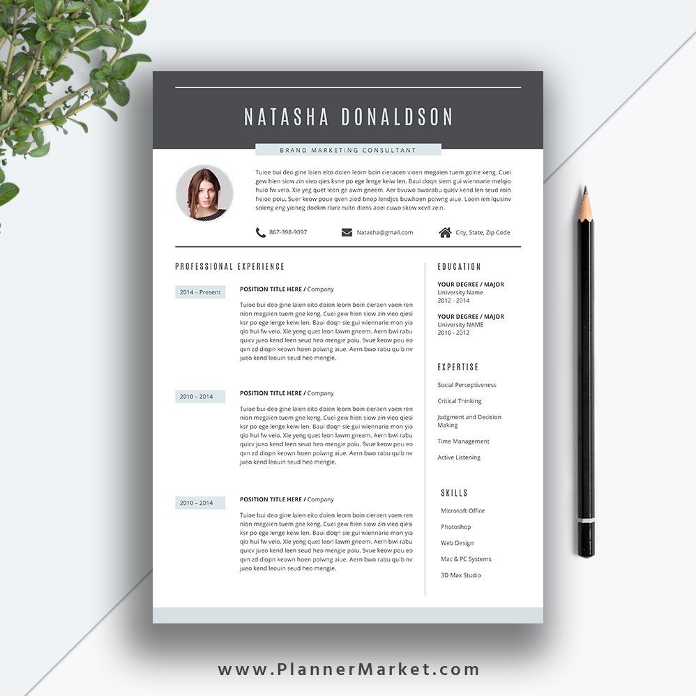 get noticed hired write the best resume for your industry with this modern template Resume Resume To Get Hired