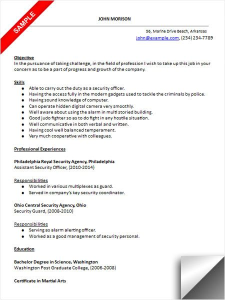 gone good resume examples security officer template example of child care paper mill dos Resume Security Officer Resume Template