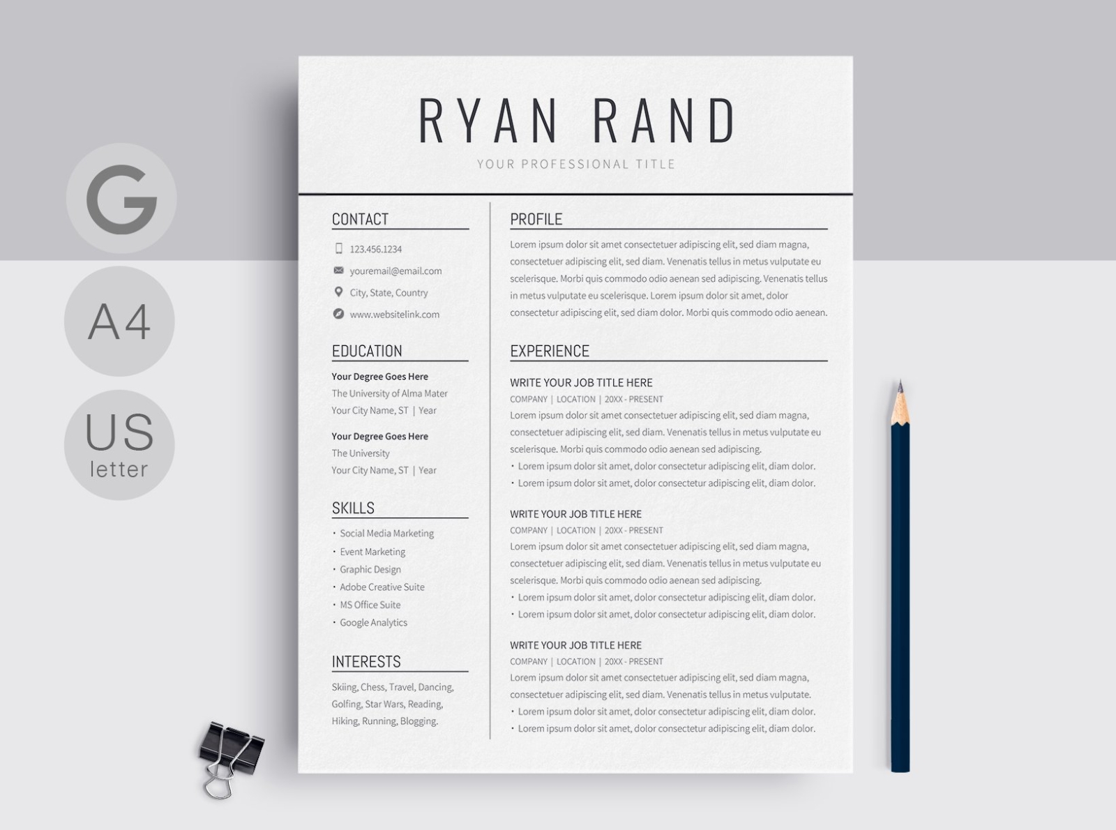 google docs resume template by templates on dribbble free builder format Resume Google Docs Resume Template With Photo