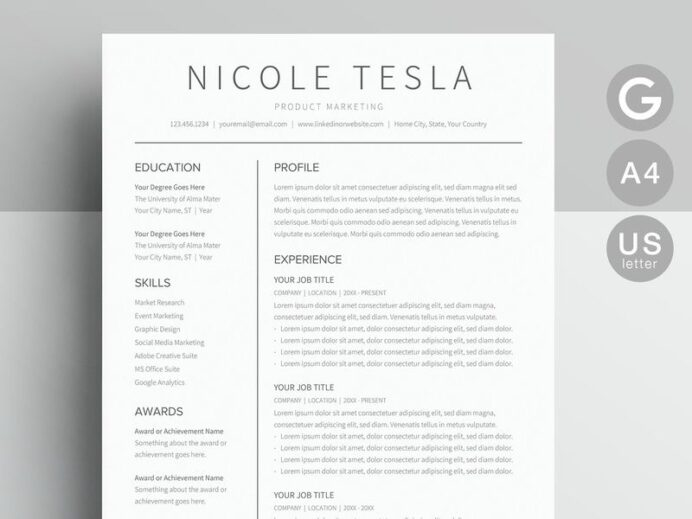 google docs resume template templates on dribbble word teacher with photo professional Resume Google Docs Resume Template With Photo