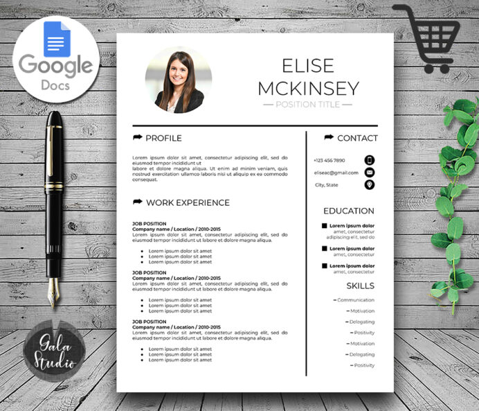 google docs resume template with photo and cover letter modern makemedesign gdoc nurse Resume Google Docs Resume Template With Photo