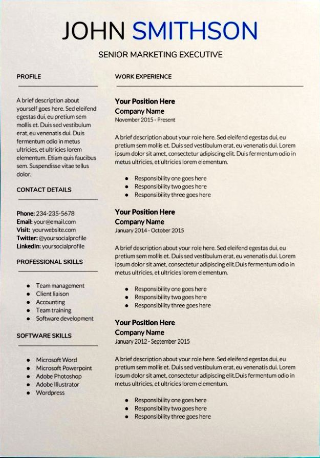 google docs resume templates downloadable pdfs senior marketing template with photo test Resume Google Docs Resume Template With Photo