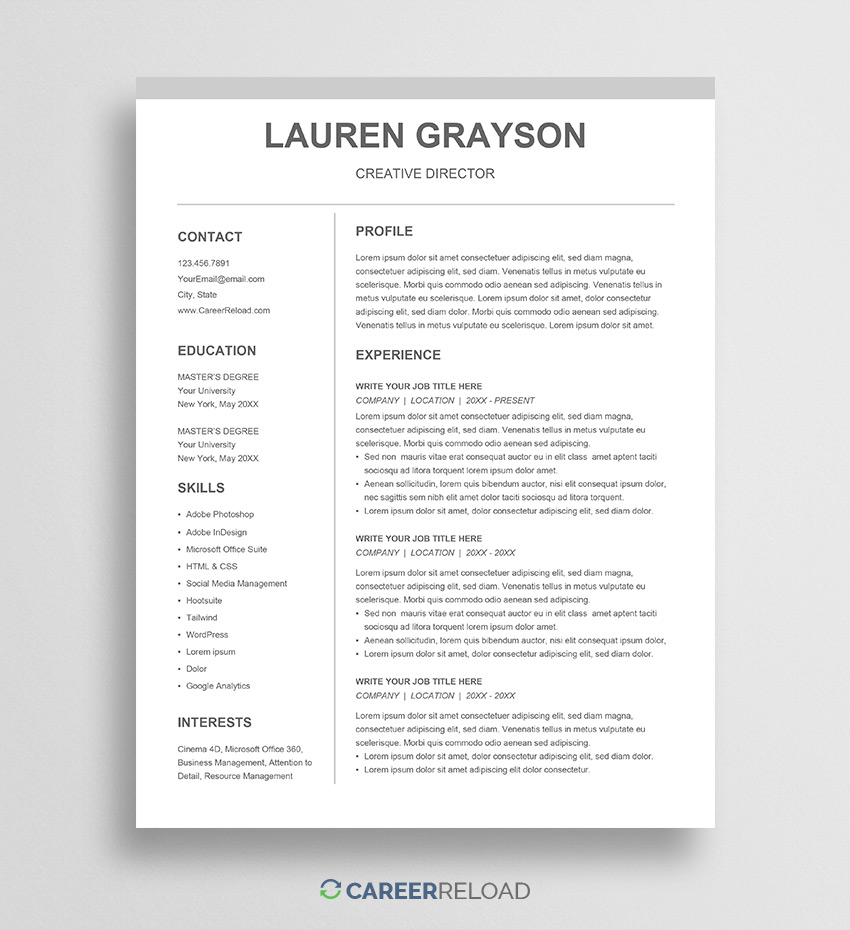 google docs resume templates for free cv template lauren federal example chief engineer Resume Resume Templates For Google Docs Free