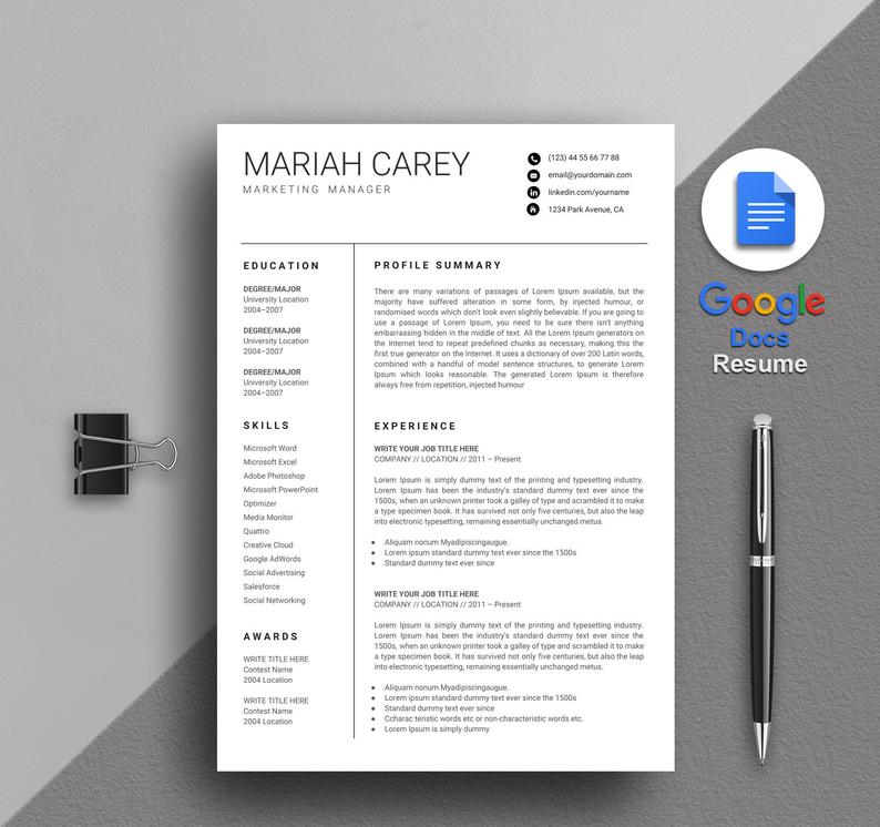 google docs resume templates now drive template free carey manager freelance proofreader Resume Google Drive Resume Template Free