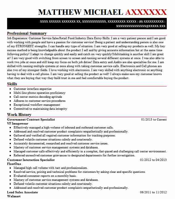 government contract specialist resume example livecareer contracting officer import Resume Government Contracting Officer Resume