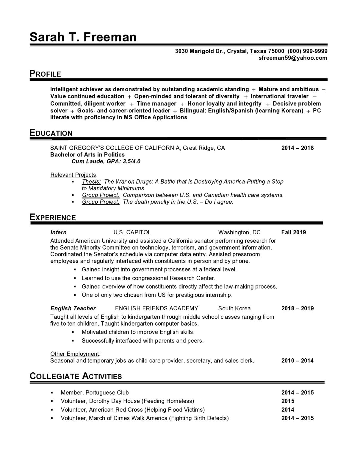 government entry level resume samples templates vault production cresch15 personal care Resume Entry Level Production Resume