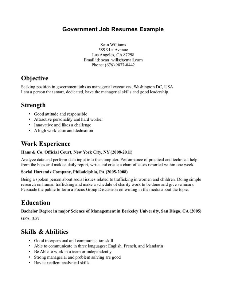 government job resumes example image simple resume examples for jobs template microsoft Resume Government Resume Template Microsoft Word