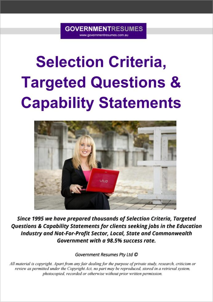 government resumes selection criteria targeted questions capability statements by resume Resume Resume Selection Criteria Examples