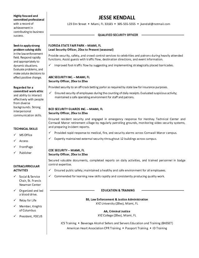 guard security officer resume free templates examples objective construction foreman Resume Free Security Resume Templates