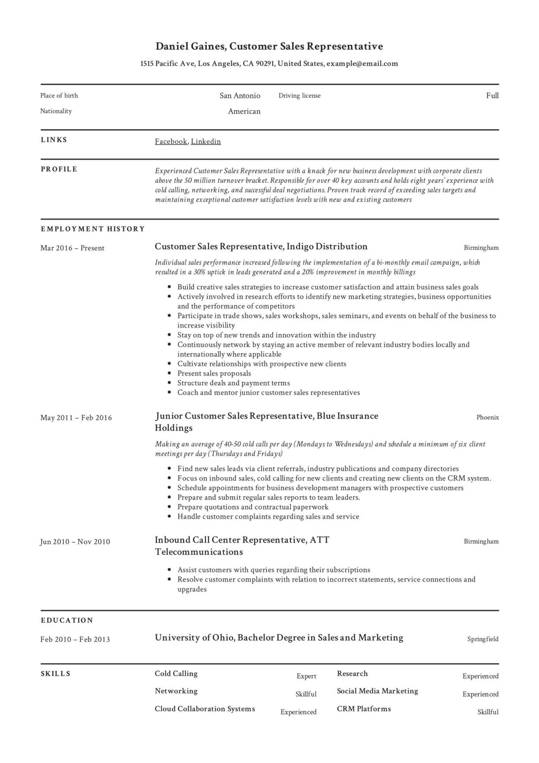 guide customer representative resume samples pdf associate sample hard copy of former Resume Sales Associate Resume Sample
