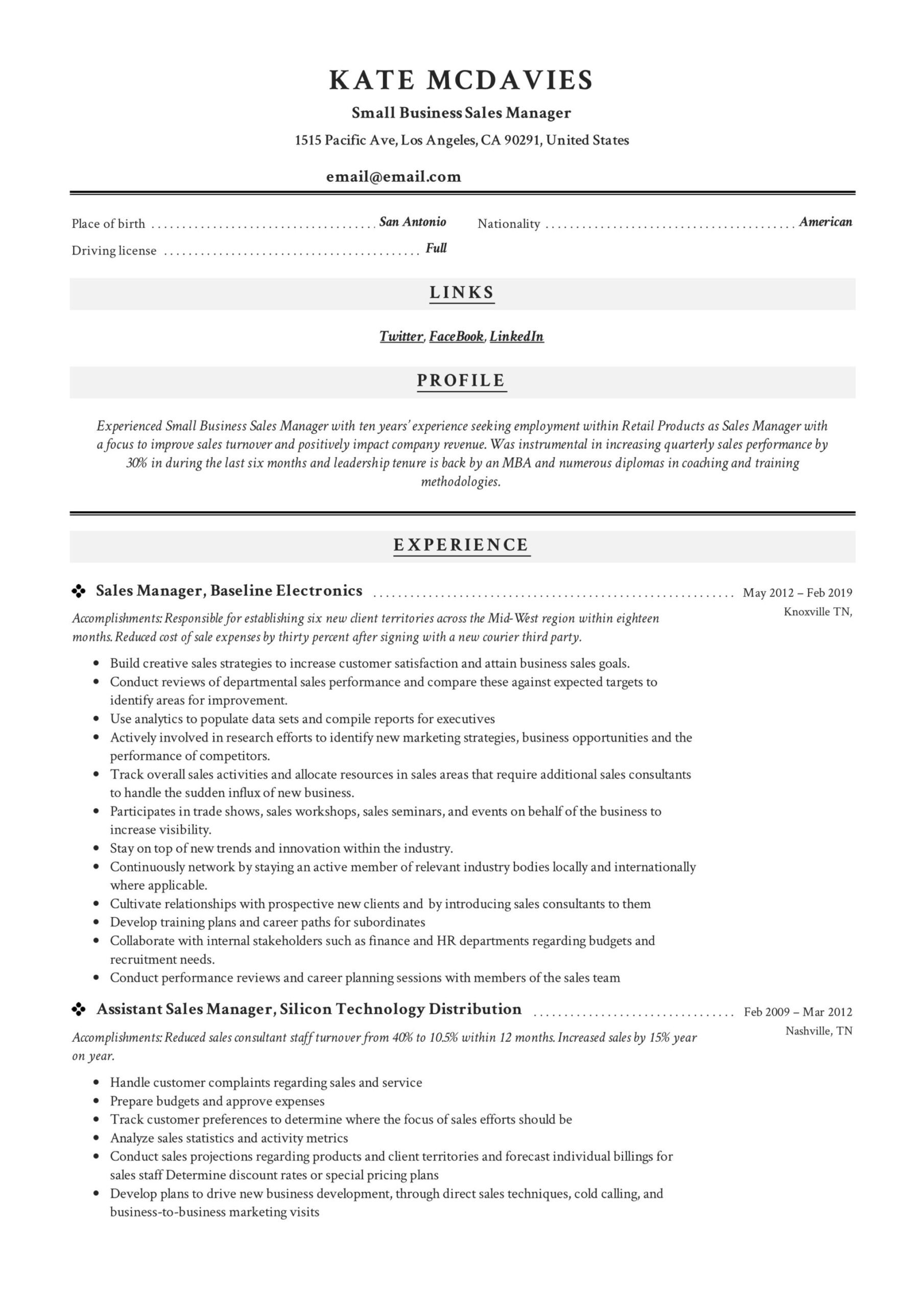 guide small business manager resume x12 sample pdf examples example fraud specialist Resume Sales Manager Resume Examples
