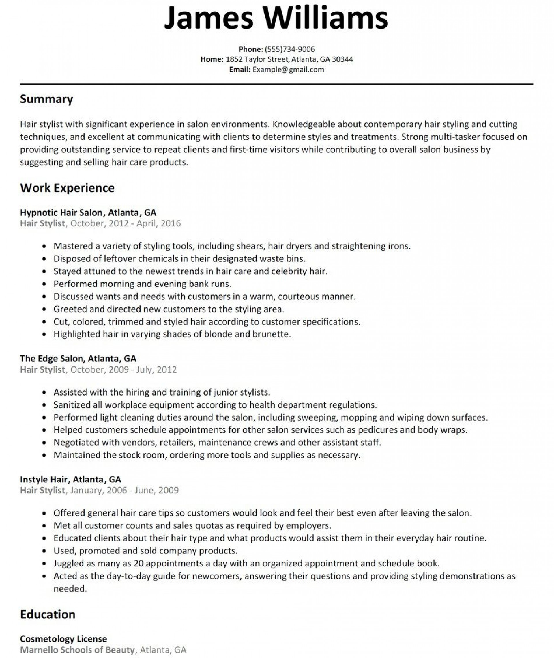 hair stylist resume template addictionary summary rare high project management job Resume Hair Stylist Resume Summary