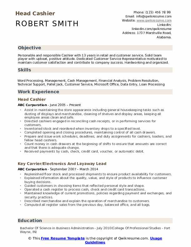 head cashier resume samples qwikresume qualifications and skills for pdf contract manager Resume Cashier Qualifications And Skills For Resume