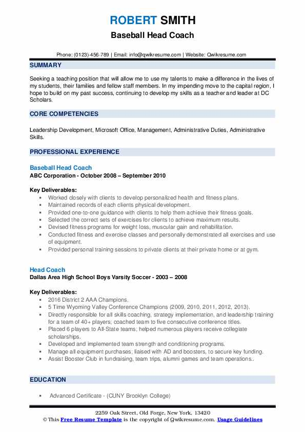 head coach resume samples qwikresume cricket player format pdf duties of office manager Resume Cricket Player Resume Format