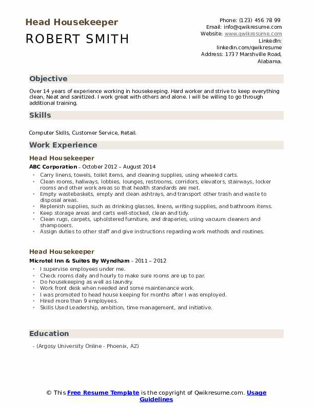head housekeeper resume samples qwikresume housekeeping template free pdf android for Resume Housekeeping Resume Template Free