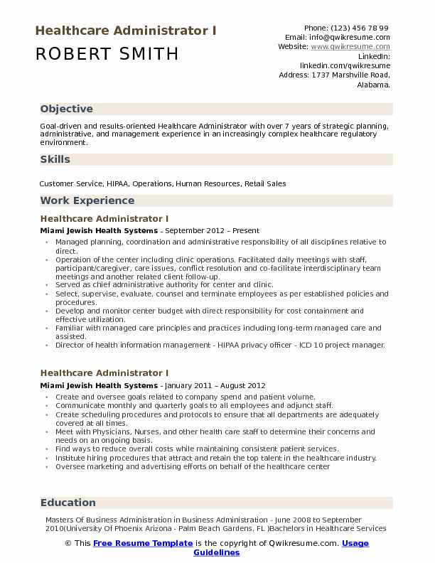 healthcare administrator resume samples qwikresume format for jobs pdf non emergency Resume Resume Format For Healthcare Jobs