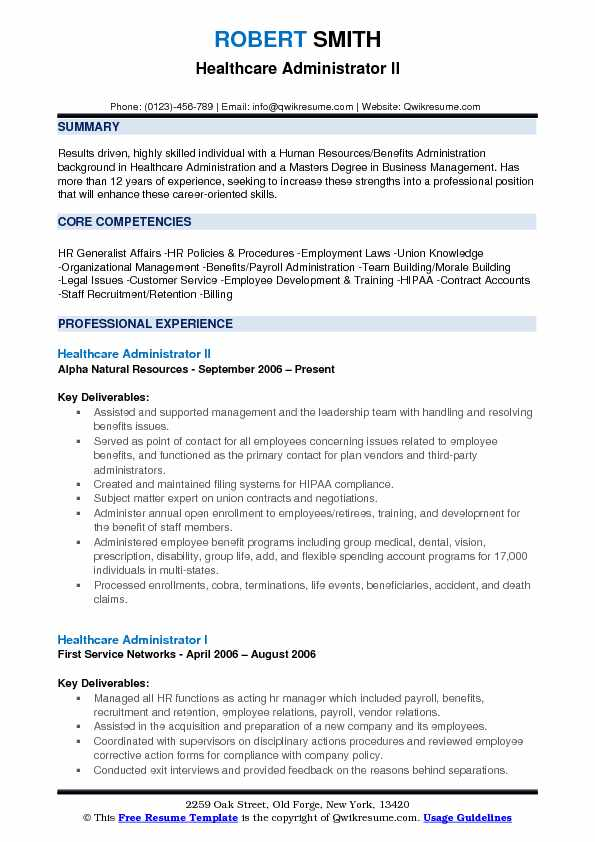 healthcare administrator resume samples qwikresume summary for pdf action verbs harvard Resume Healthcare Summary For Resume