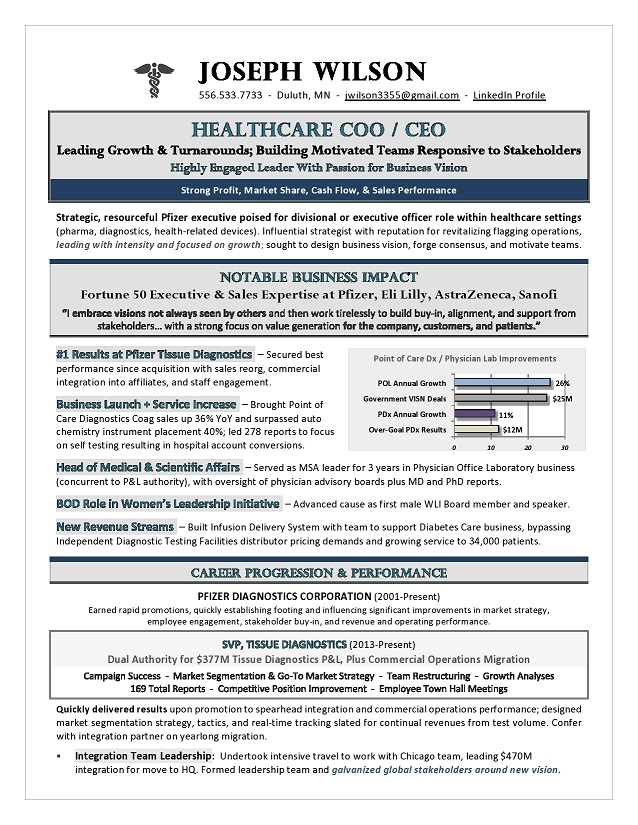 healthcare coo ceo resume premium executive writing services writers award winning by Resume Healthcare Executive Resume Writers