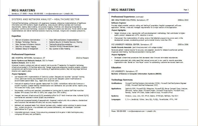 healthcare it resume sample monster format for jobs retail manager new grad nurse phone Resume Resume Format For Healthcare Jobs