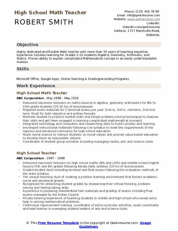 high school math teacher resume samples qwikresume sample college application for seniors Resume Sample College Application Resume For High School Seniors