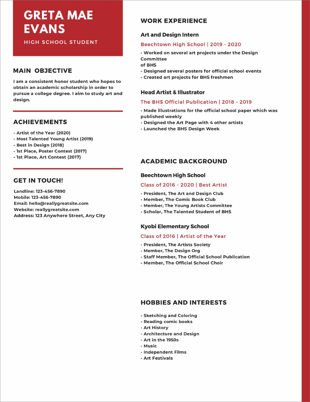 high school resume templates now best for students expert writers virtual collections Resume Best Resume Templates For Students