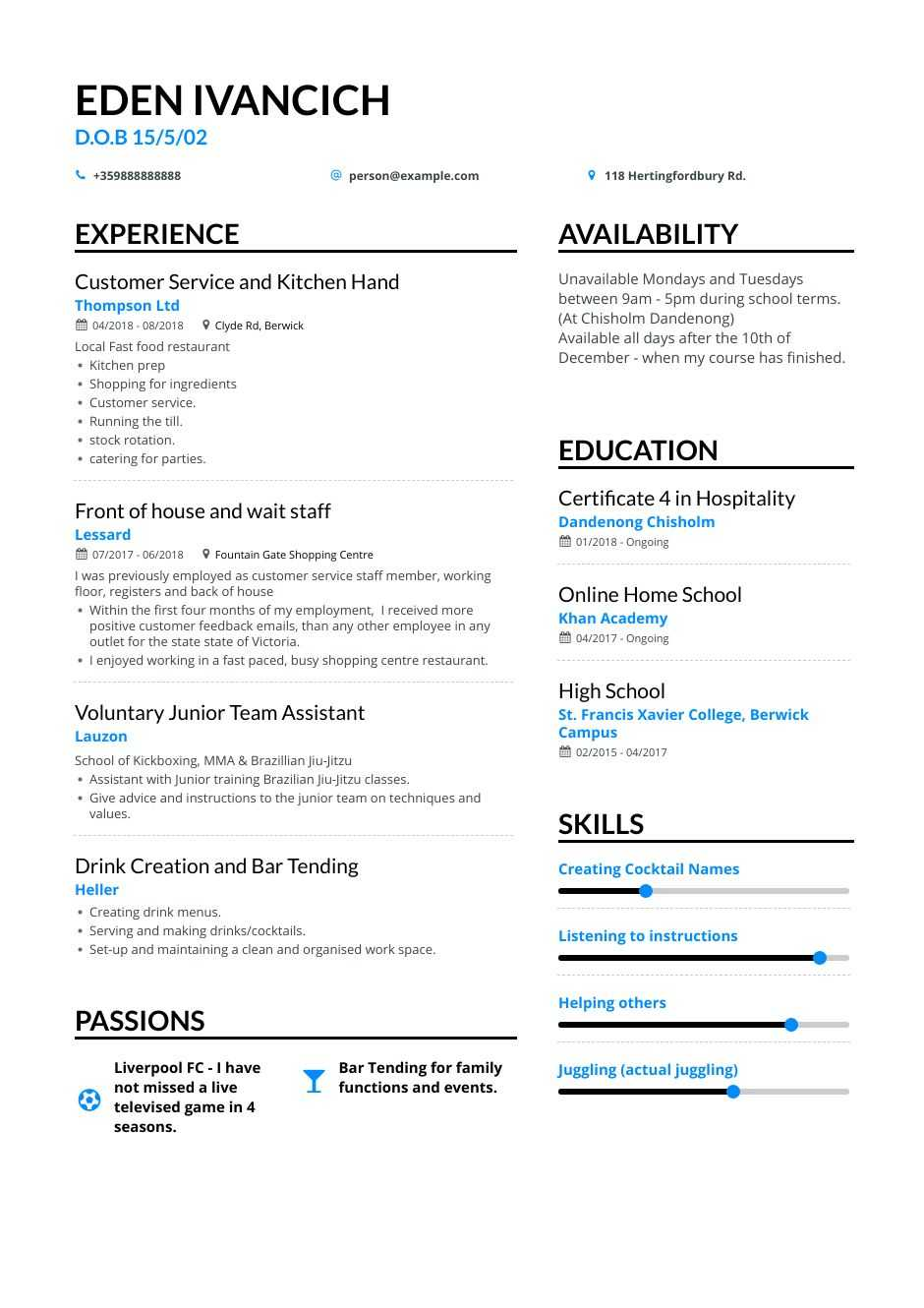 high school teen resume examples pro tips featured enhancv for teens good job child care Resume Resume Tips For Teens