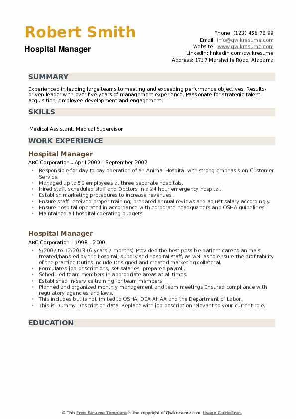 hospital manager resume samples qwikresume examples for jobs pdf customer representative Resume Resume Examples For Hospital Jobs
