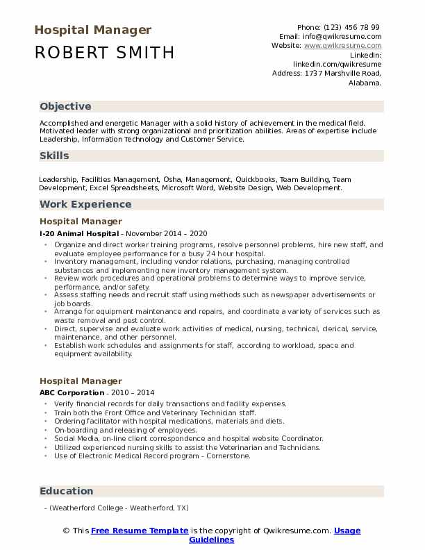 hospital manager resume samples qwikresume examples for jobs pdf editorial position Resume Resume Examples For Hospital Jobs