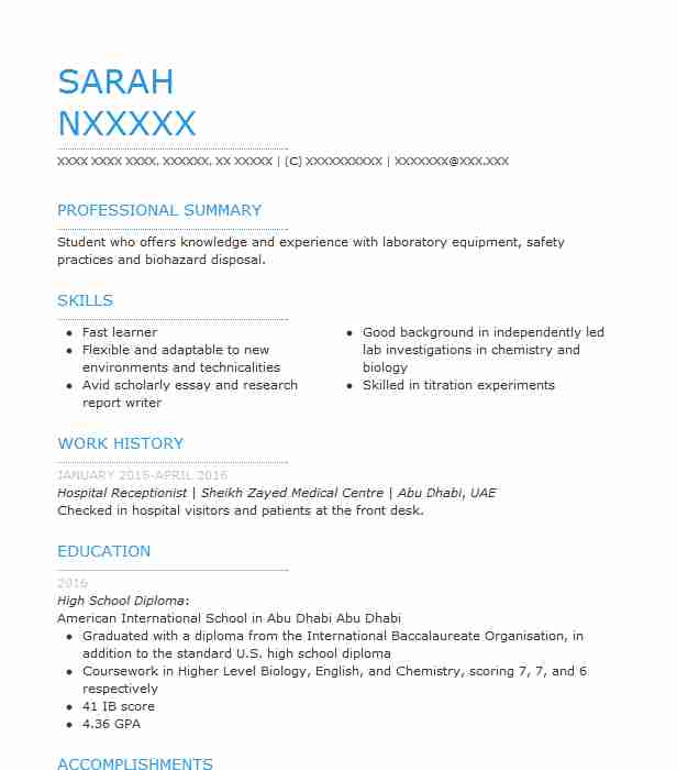 hospital receptionist resume example livecareer examples for jobs career objective Resume Resume Examples For Hospital Jobs