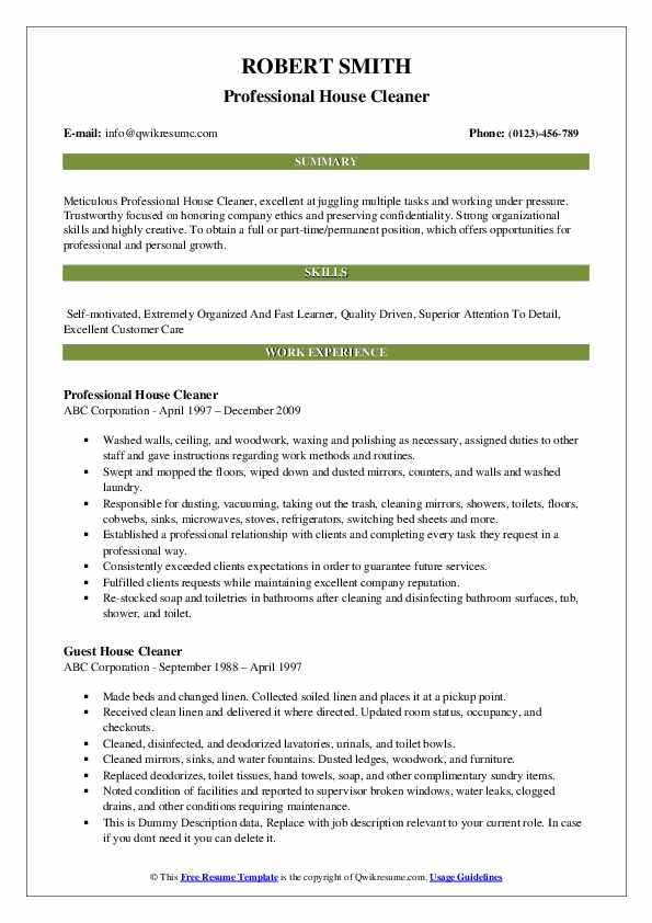 house cleaner resume samples qwikresume self employed pdf delivery driver job description Resume Self Employed House Cleaner Resume