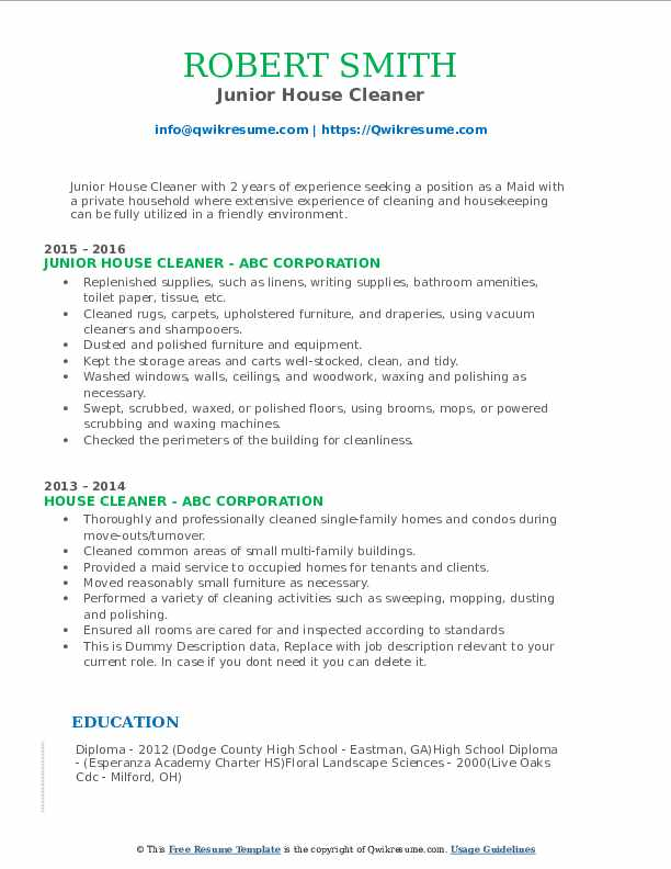 house cleaner resume samples qwikresume self employed pdf receiving associate technology Resume Self Employed House Cleaner Resume