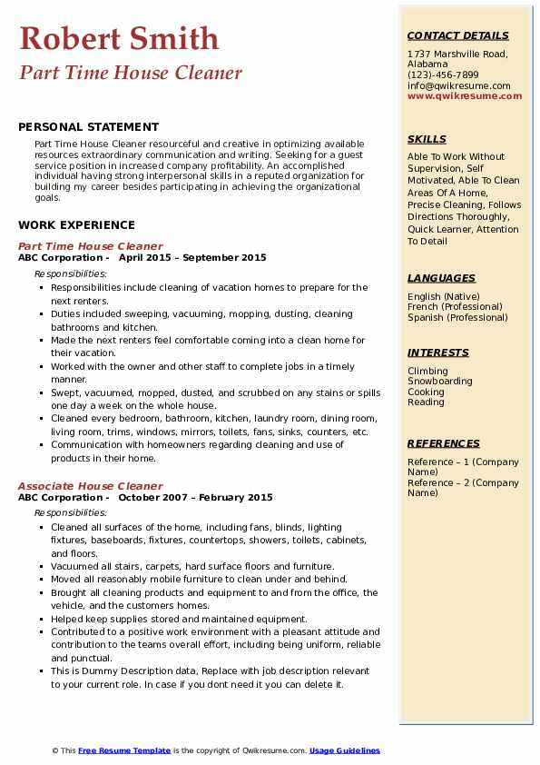 house cleaner resume samples qwikresume self employed pdf writing for scientists Resume Self Employed House Cleaner Resume