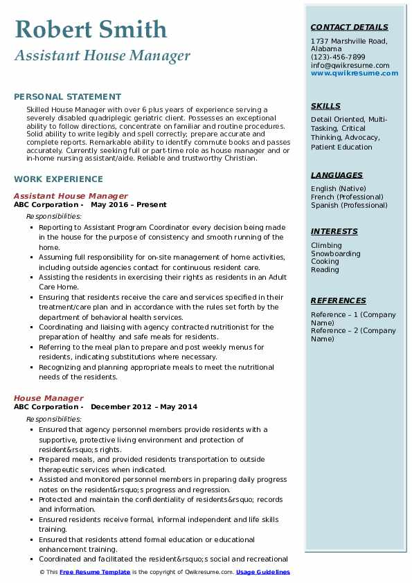 house manager resume samples qwikresume private estate pdf apa style cover letter for Resume Private Estate Manager Resume