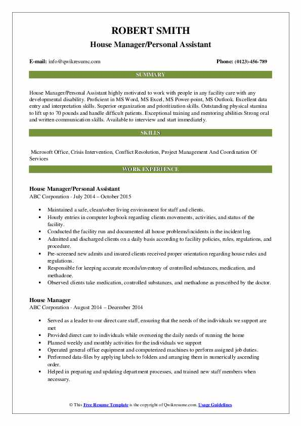 house manager resume samples qwikresume private estate pdf catechist apa style cover Resume Private Estate Manager Resume