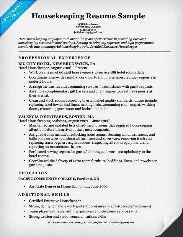 housekeeping resume sample best examples for job sports template viper bms graduate Resume Sample Resume For Housekeeping Job