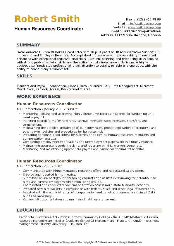 human resources coordinator resume samples qwikresume pdf creative examples elevator Resume Human Resources Coordinator Resume