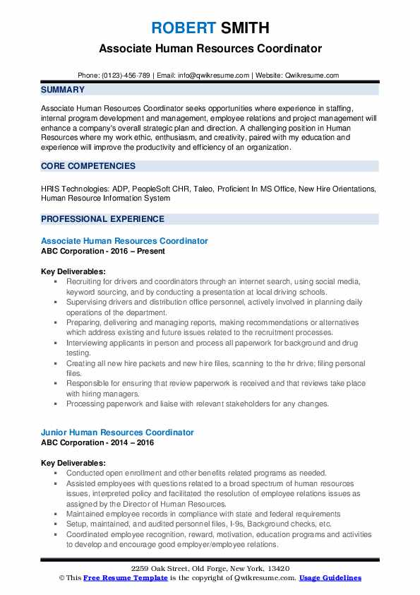 human resources coordinator resume samples qwikresume pdf letterhead amazing objective Resume Human Resources Coordinator Resume