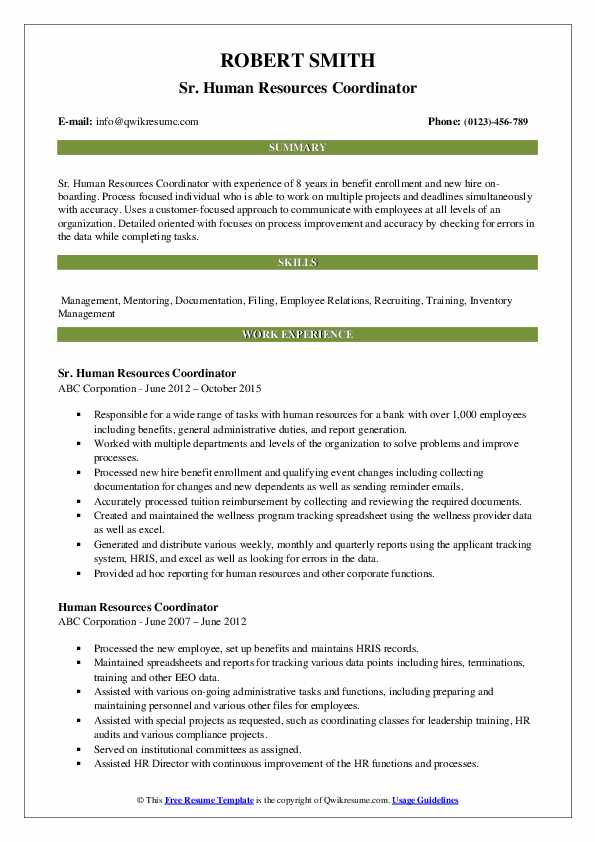 human resources coordinator resume samples qwikresume pdf primer magazine templates Resume Human Resources Coordinator Resume
