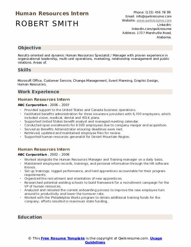 human resources intern resume samples qwikresume entry level hr pdf clothing retail job Resume Entry Level Hr Resume
