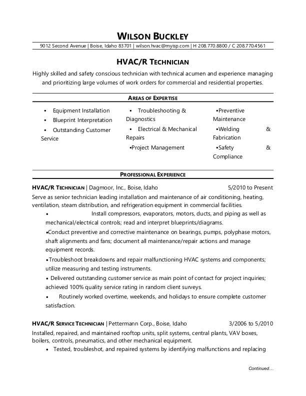 hvac technician resume sample monster pdf minute papillon high school builder extractor Resume Hvac Technician Resume Pdf