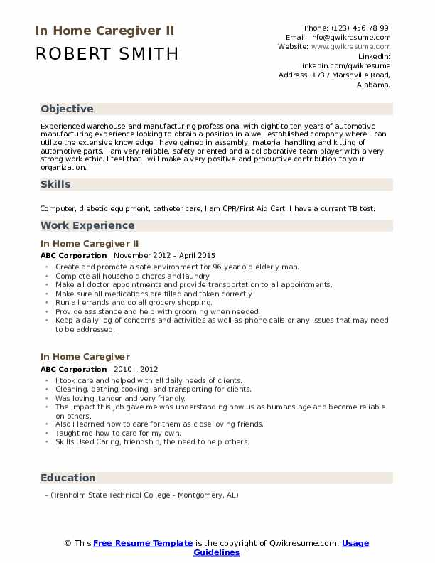 in home caregiver resume samples qwikresume duties and responsibilities pdf esthetician Resume Caregiver Duties And Responsibilities Resume