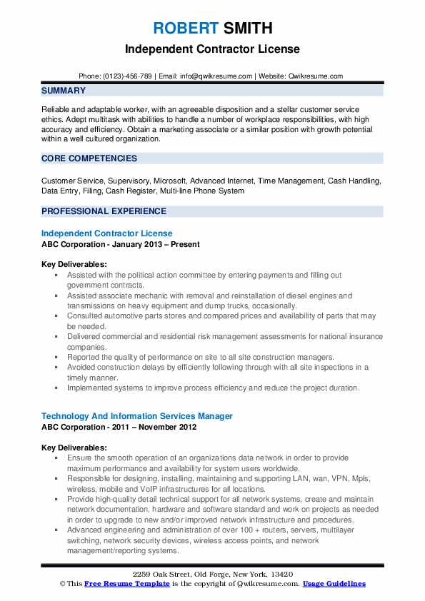 independent contractor resume samples qwikresume self employed general pdf software Resume Self Employed General Contractor Resume